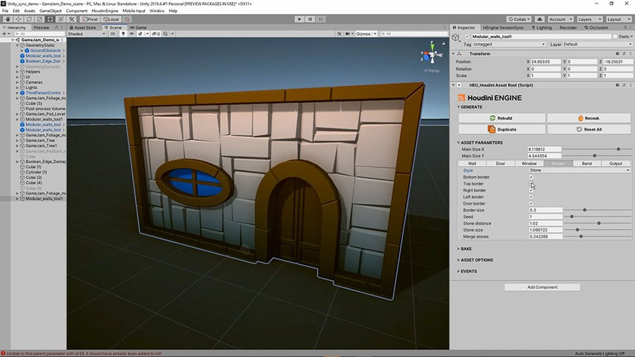 This tool creates walls with windows and doors. You have control over the size of the wall and the placements of the elements. You can also bend the wall and change its look using a border which you can shape using a ramp.